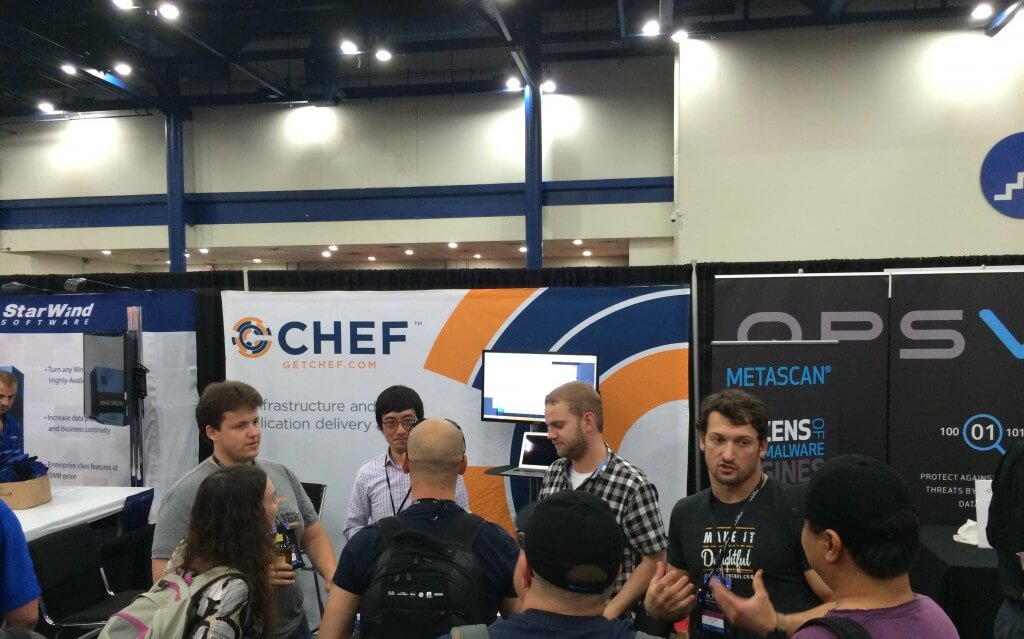 picture of Chef's booth at TechEd